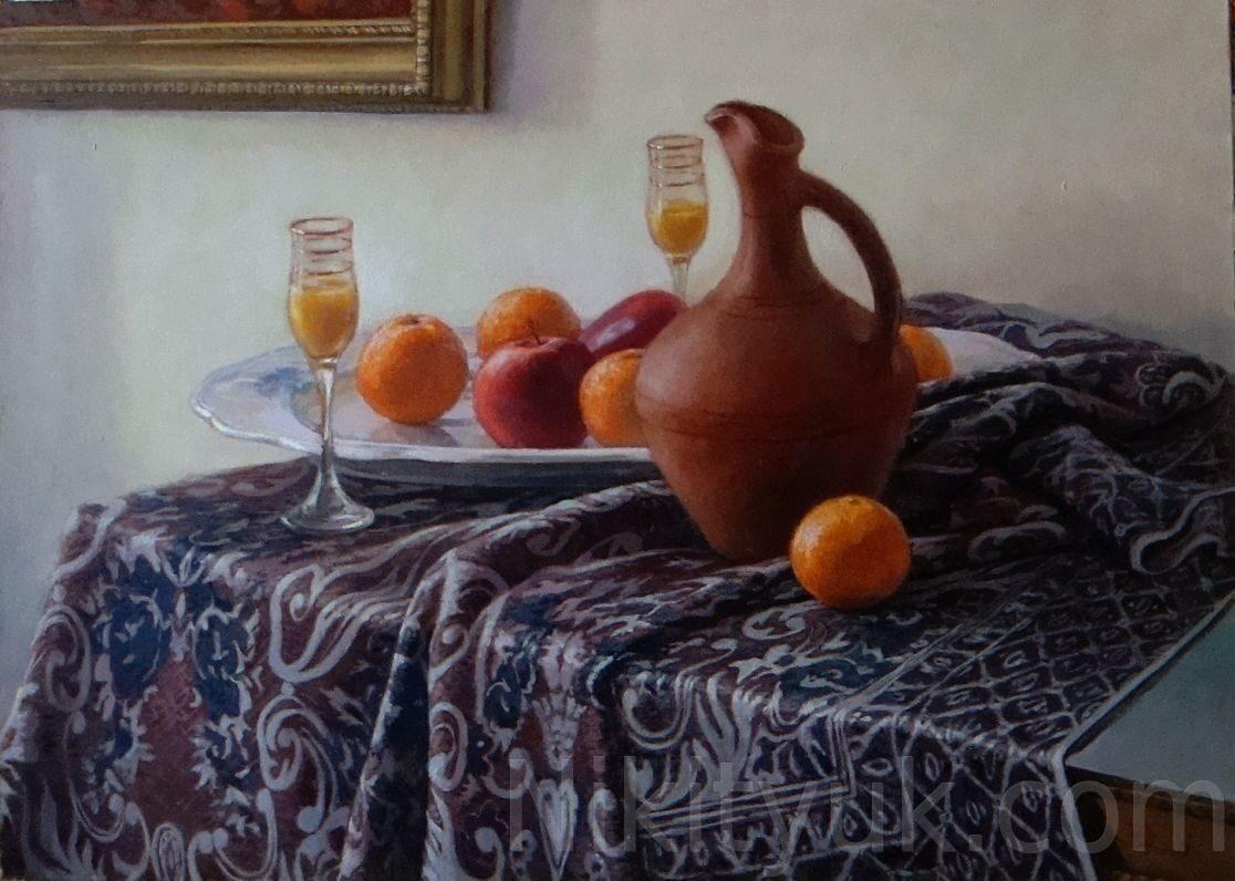 Апельсиновый сок. 65х90см, х.м. 100 000 руб., под заказ