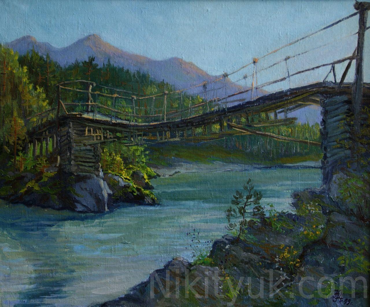 Аскатский мост. х.м. 50х60см, 1995г. 25 000 руб., в наличии