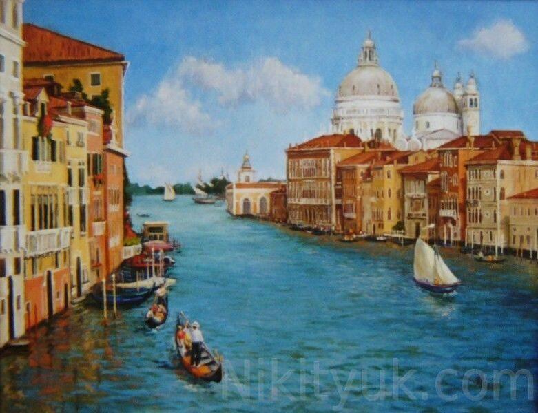 Венеция, х.м., 70х85см, 2002г. 50 000 руб. под заказ