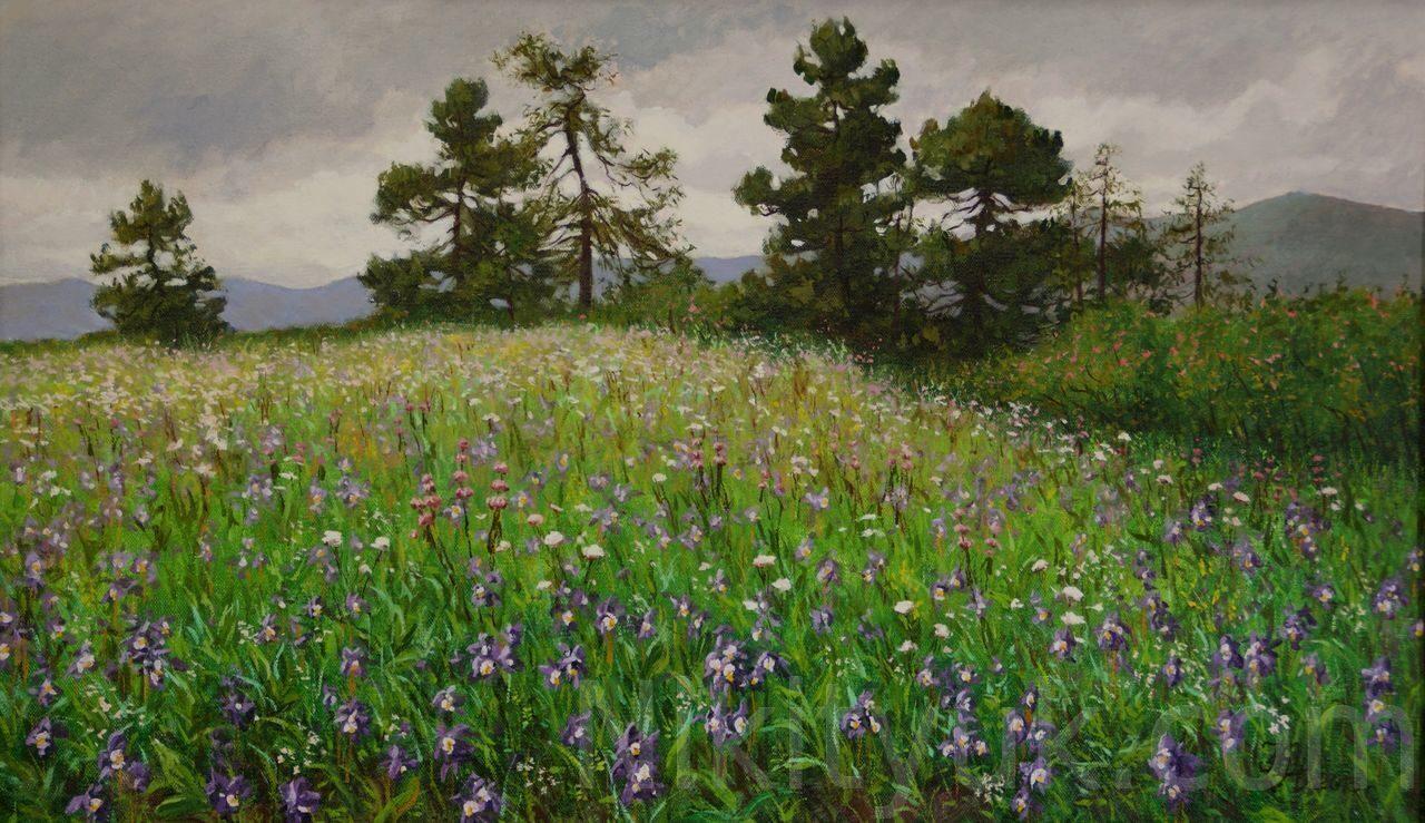 Весна в горах, х.м., 50х85см, 2013г. 35 000руб., в наличии