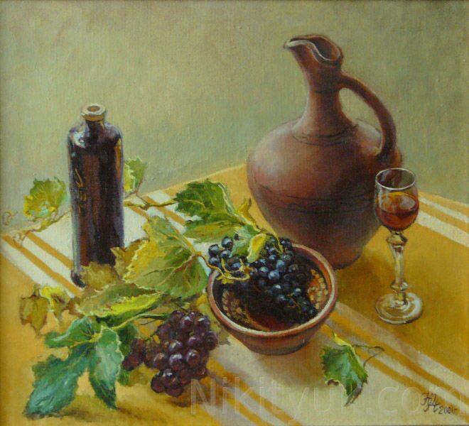 Виноград, х.м., 50х55см, 2001г. 20 000 руб., под заказ