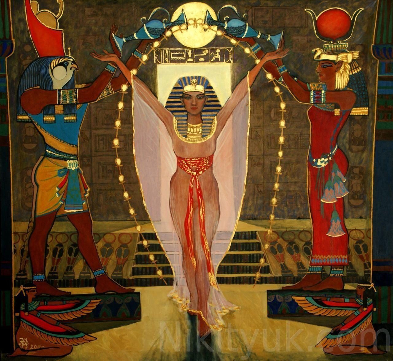 Возрождение Хатшепсут, х.м., акрил, 140х150см, 2011г. 500 000 руб. в наличии