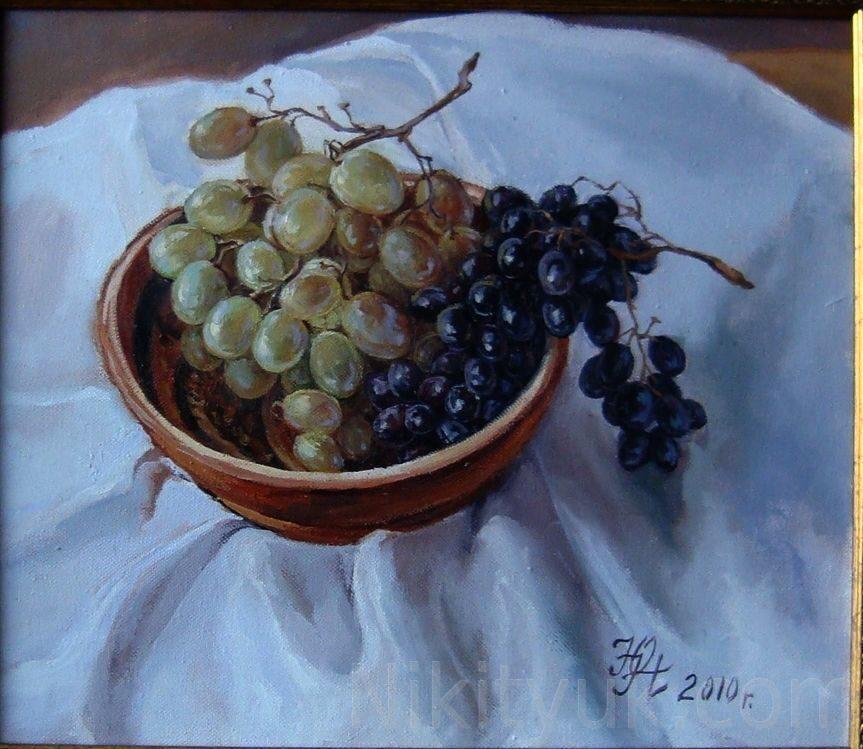 Грозди винограда, х.м. 35х40см, 2012г. 8 000 руб., под заказ