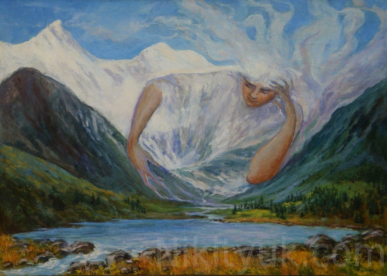 Дух горы Белуха. х.м. 50х70см. 30 000 руб., в наличии