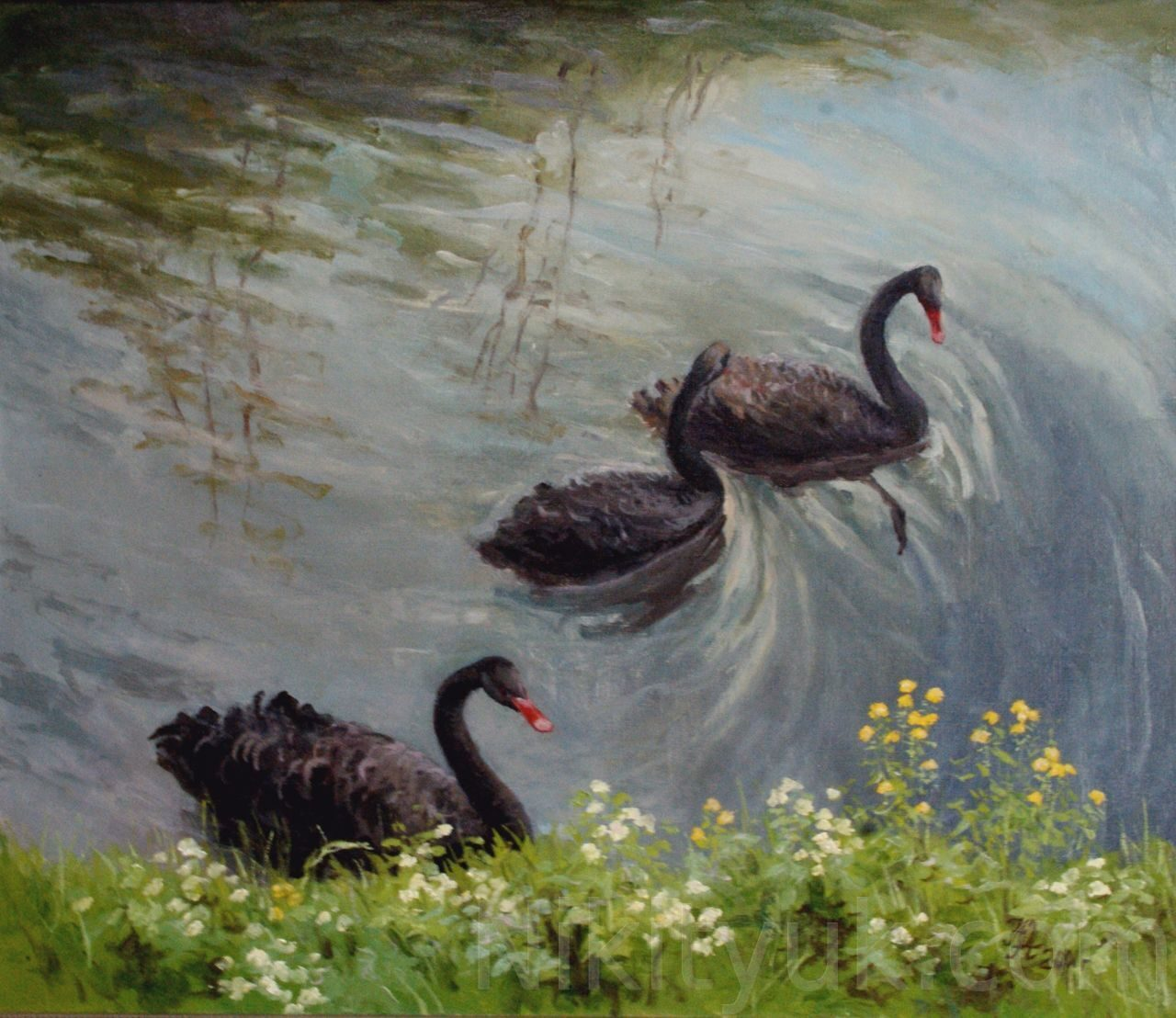 Лебеди, х.м., 60х70см, 2001г. 30 000 руб., в наличии