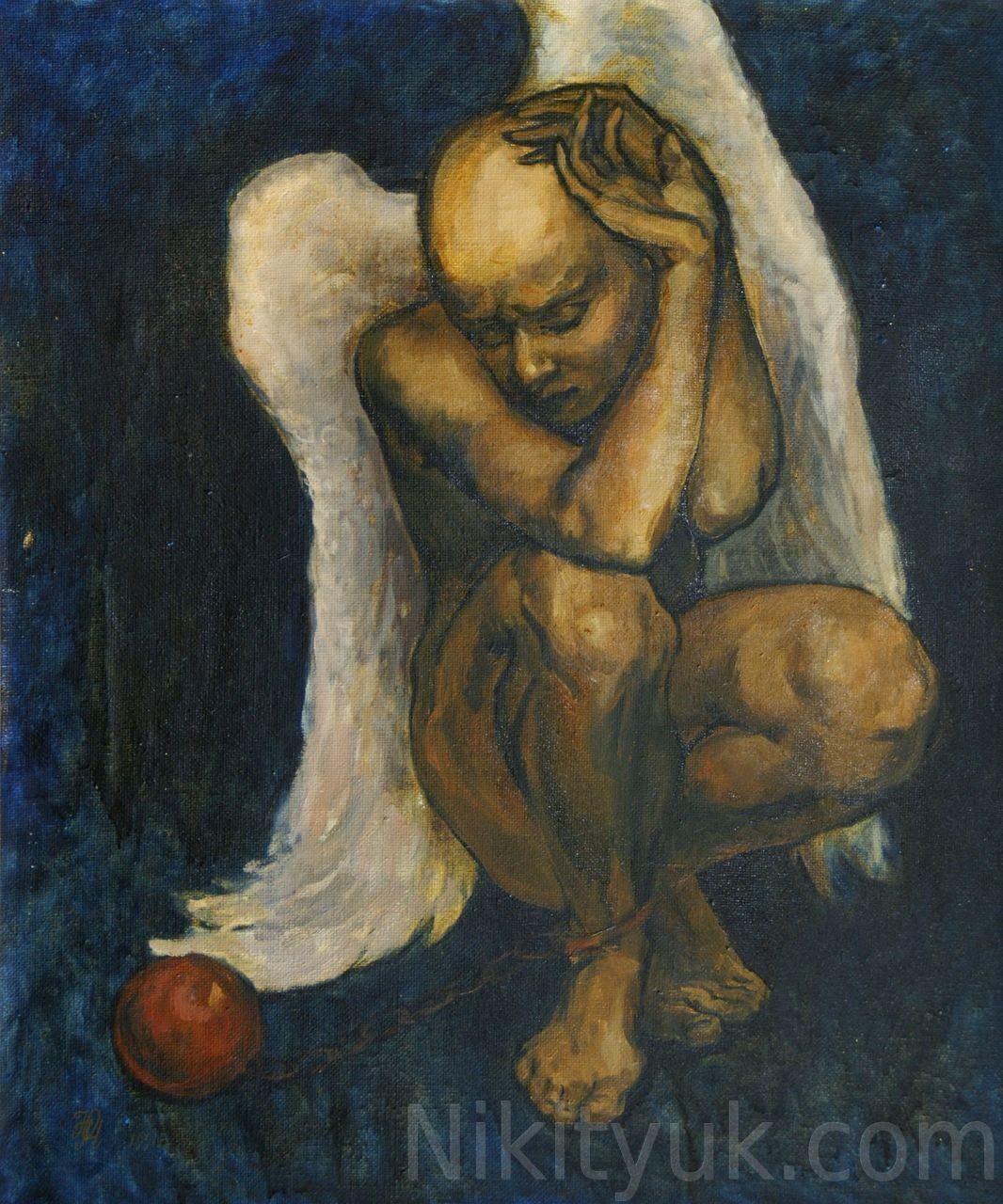 Мой бедный ангел, х.м., 60х50см, 1991г. 30 000 руб. в наличии