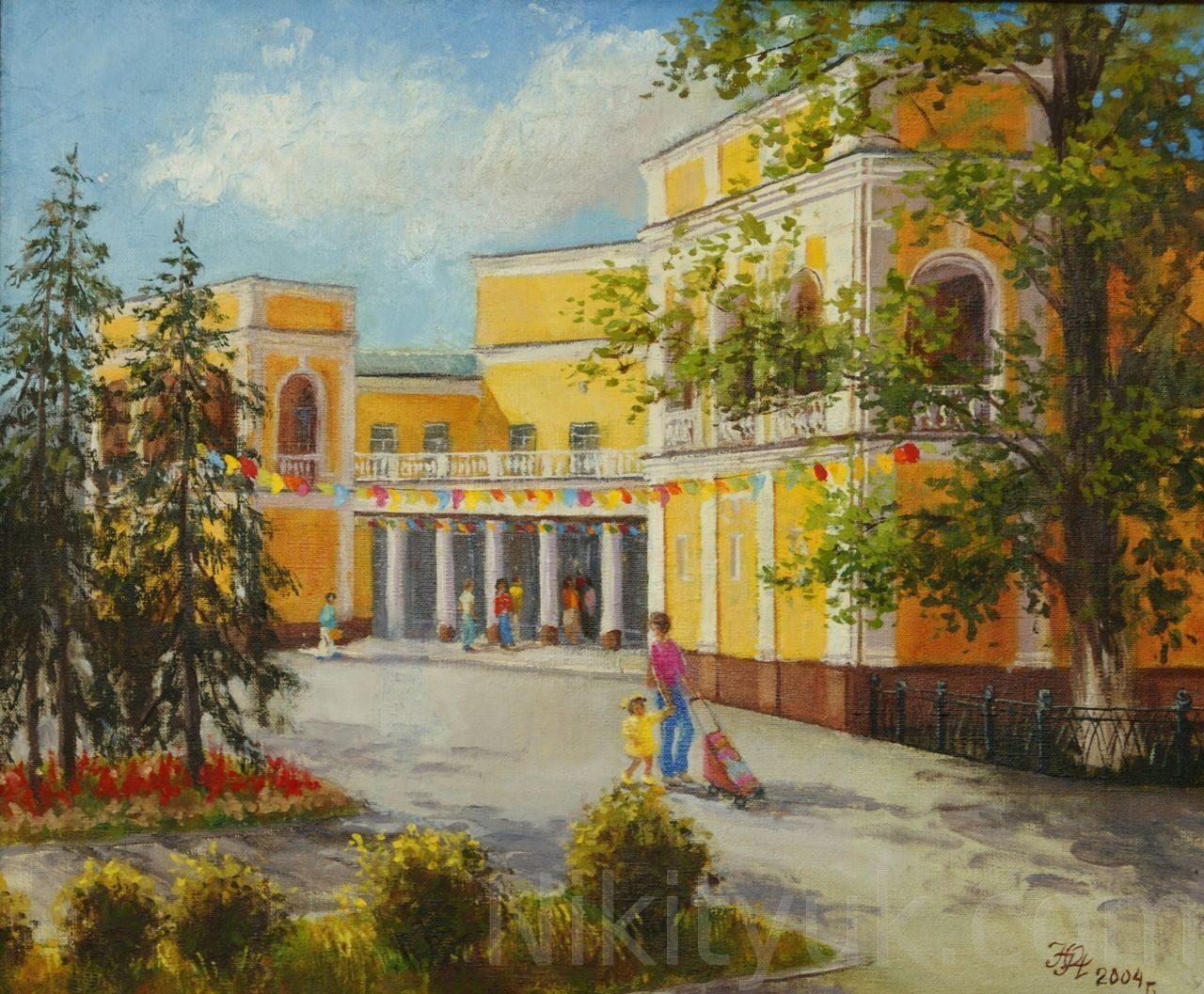 Музей изобразительного искусства. х.м. 50х60см. 2004г. 15 000 руб., в наличии
