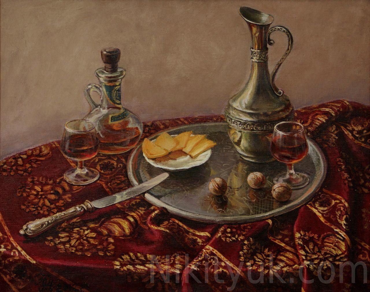 Натюрморт с сыром., х.м., 40х50см, 2012г. 25 000 руб., под заказ