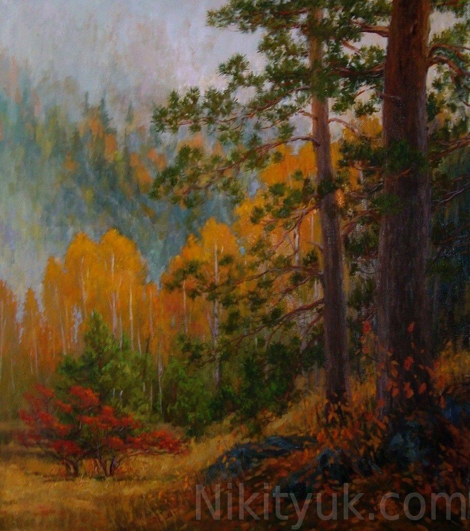 Осенние туманы, х.м., 85х70см, 2012г. 35 000 руб., под заказ