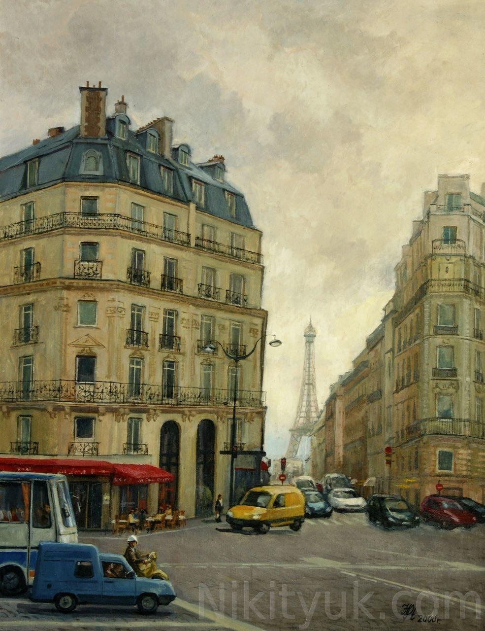Парижский перекрёсток, х.м.,90х70см, 2000г. 50 000 руб. в наличии