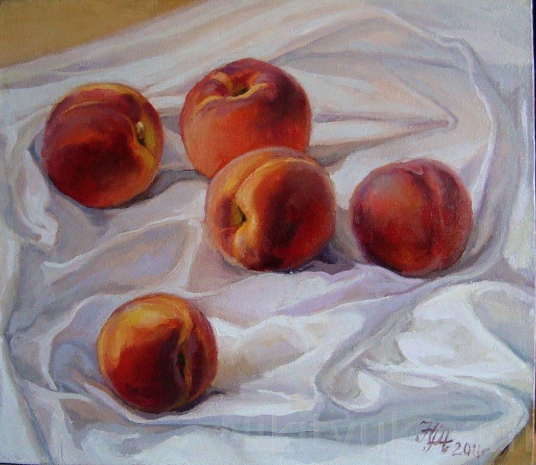 Персики, х.м., 40х45см, 2011г. 8 000 руб., под заказ