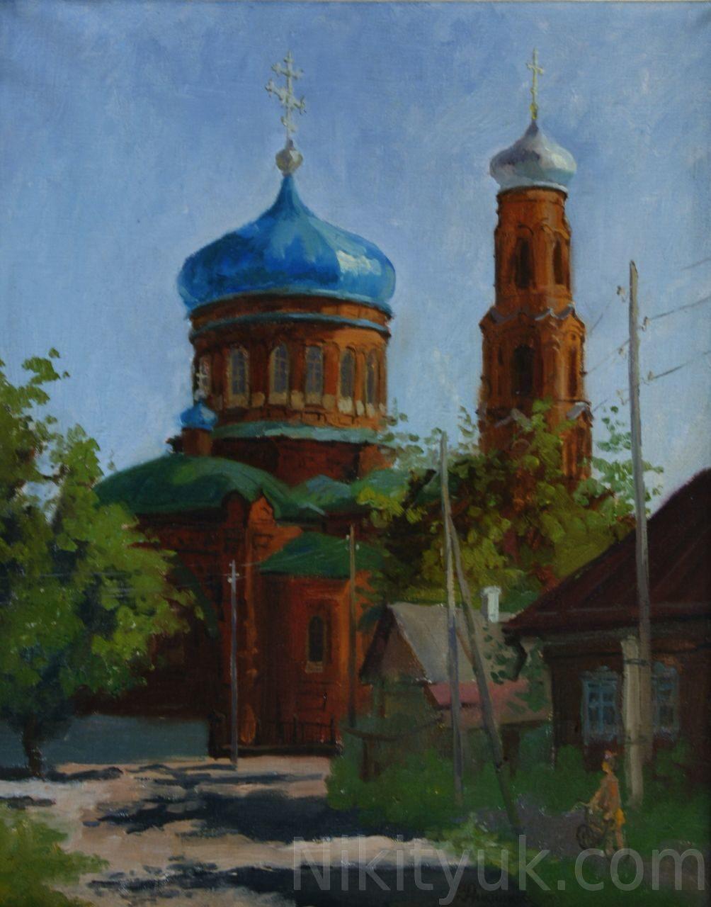 Покровский собор, г.Барнаул, х.м., 50х40см, 1991г. 15 000 руб. в наличии