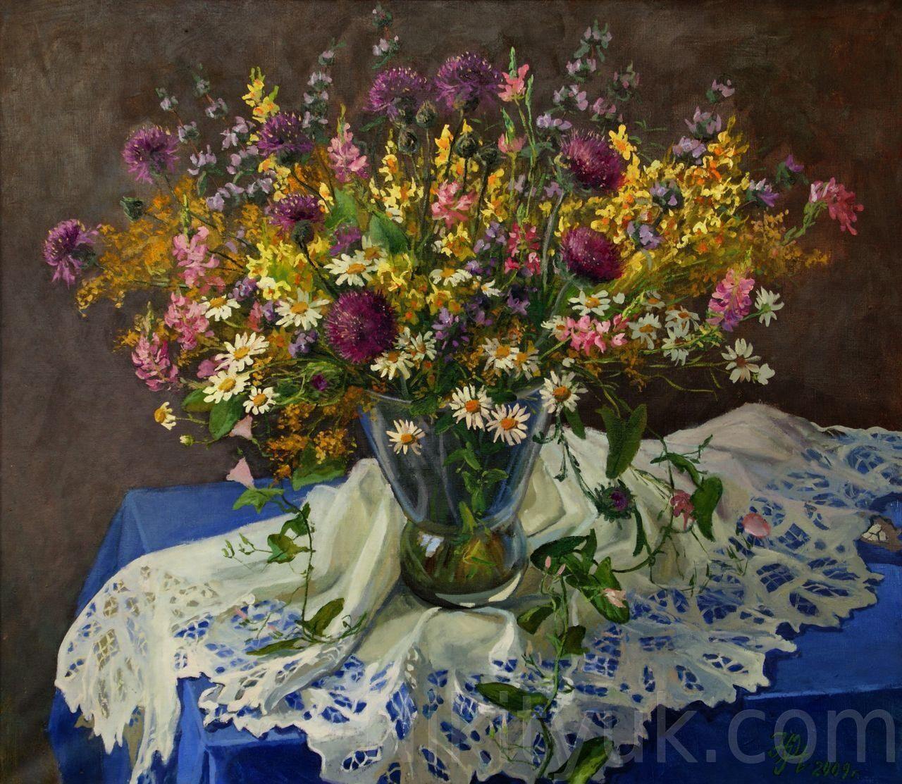 Полевые цветы, х.м., 70х80см, 2009г. 60 000 руб. в наличии