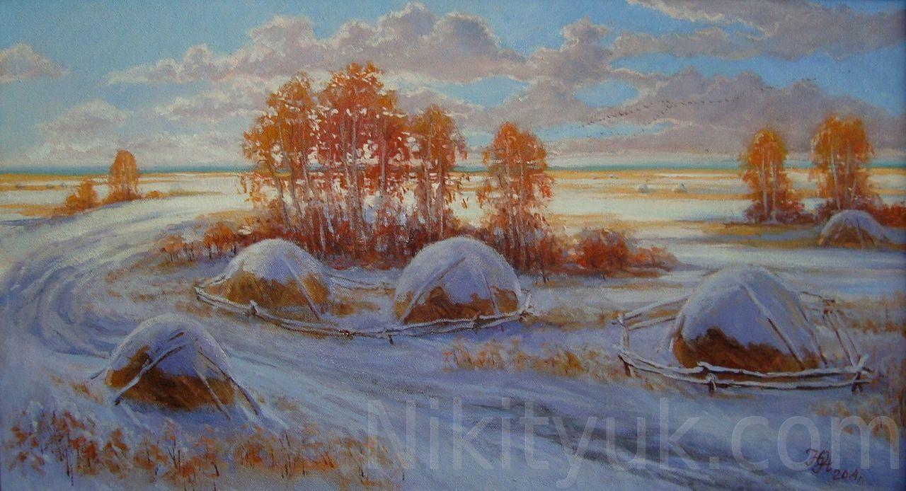 Ранний снег, х.м., 45х80см, 2014г. 30 000 руб., под заказ