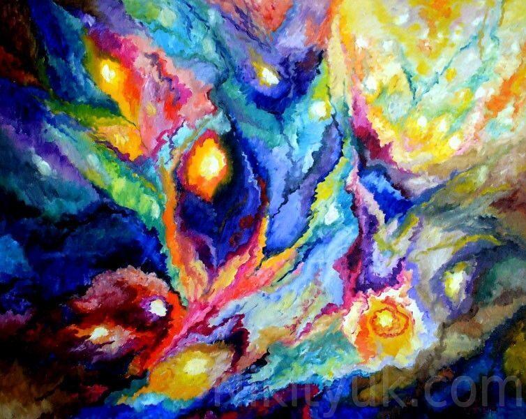 Рождение Вселенной, х.м., 80х100см, 2005г. 50 000 руб., под заказ