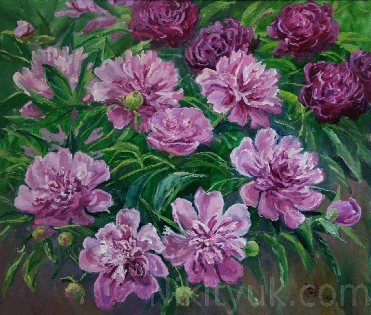 Розовые пионы, х.м., 60х70см, 2006г. 20 000 руб., в наличии