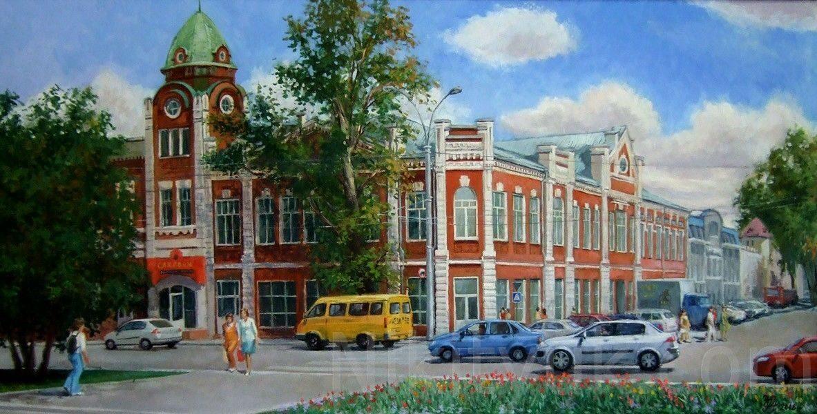 Старый город, г.Барнаул, х.м., 60х120см, 2008г. 100 000 руб. под заказ
