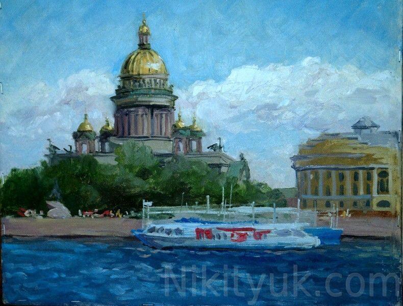 С-Петербург. Нева, картон, м., 30х35см, 2006г. 10 000 руб. под заказ
