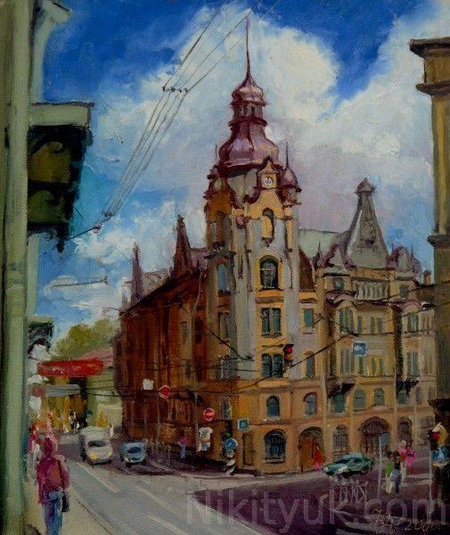 Улица в С-Петербурге, х.м., 35х30см, 2006г. 10 000 руб. под заказ