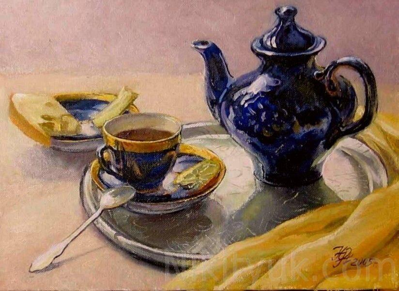 Утренний чай, х.м.,30х40см, 2005г. 10 000 руб., под заказ