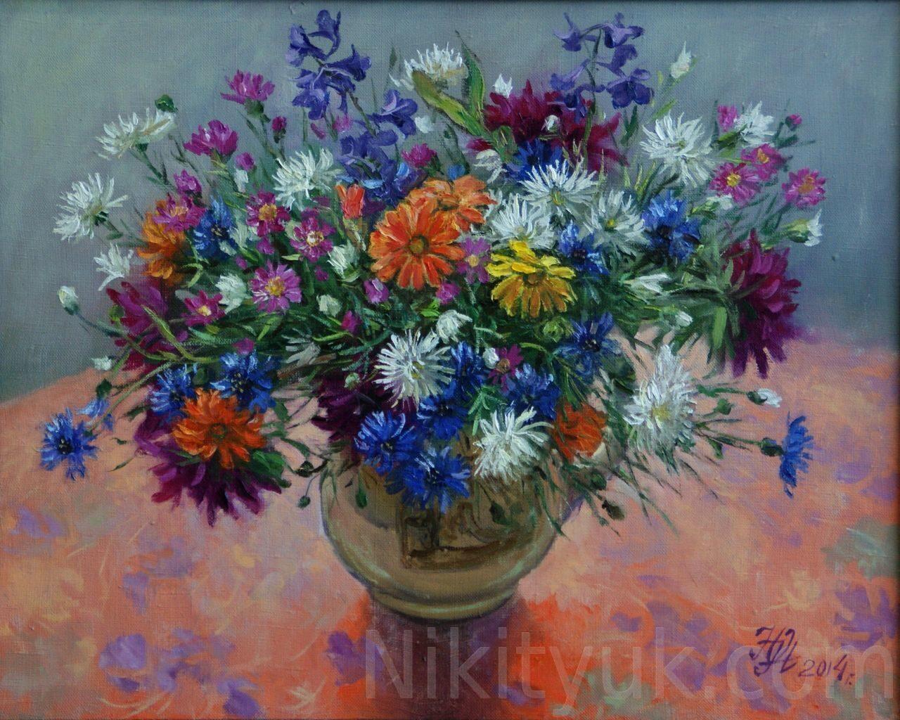 Цветы августа, х.м., 40х50см, 2014г., 12 000руб., в наличии