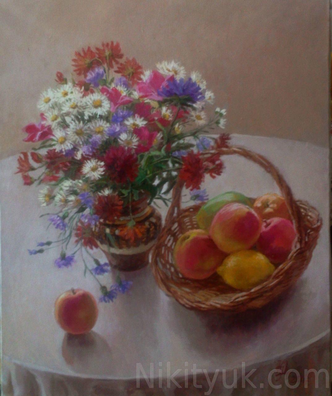 Цветы и фрукты, х.м., 45х40см, 2010г. 20 000 руб., под заказ