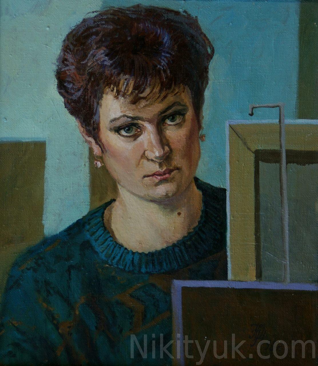 №1 Автопортрет, х.м. 45х40см, 1996г.